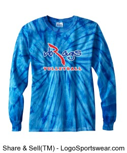 100 Cotton Long-Sleeve Spider Tie-dyed T-shirt Design Zoom
